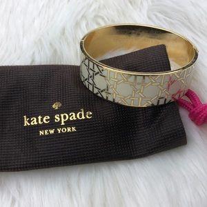 Kate Spade Gold & White Bangle Bracelet